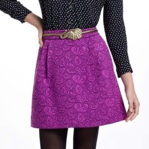 Anthropologie Purple skirt